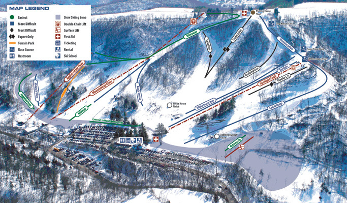Mount La Crosse Piste / Trail Map