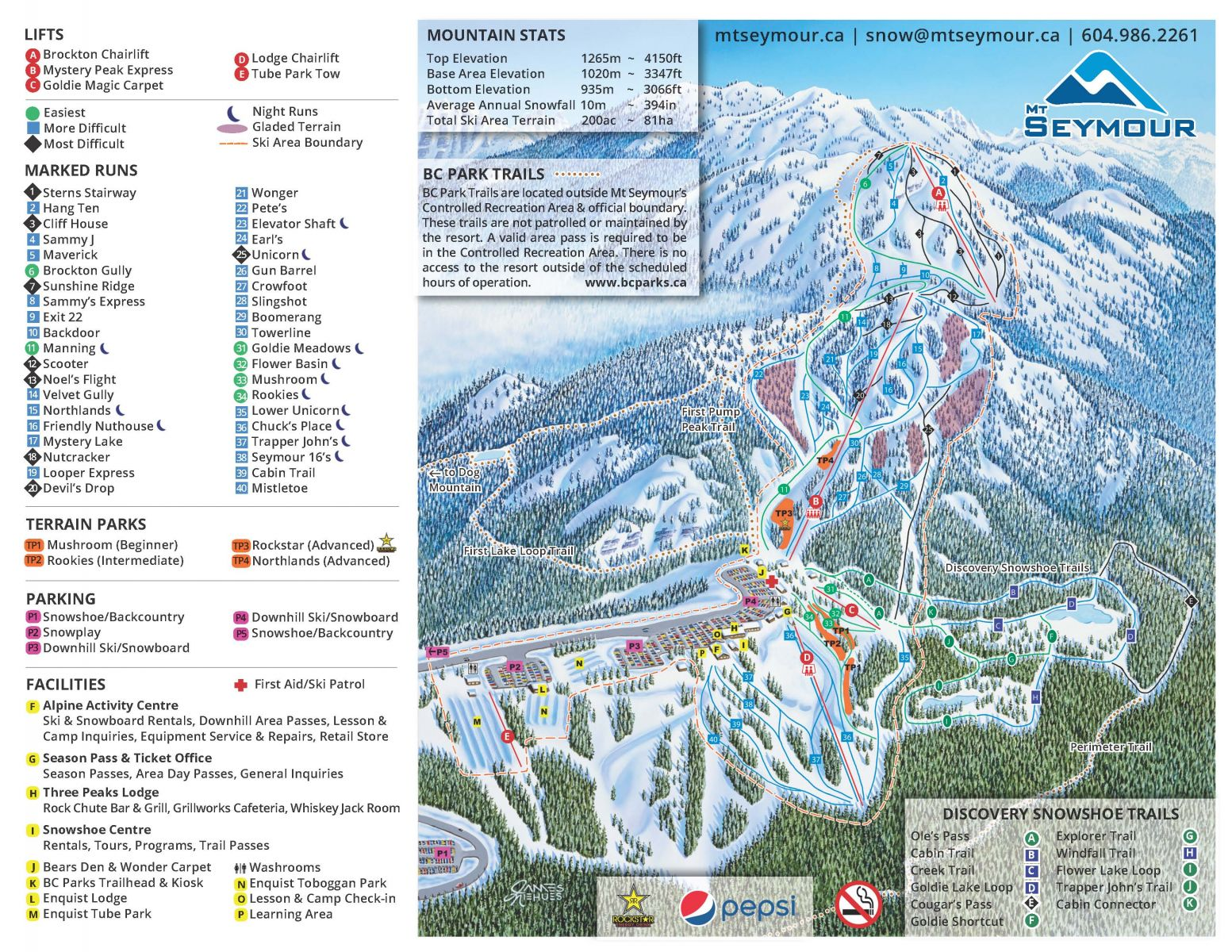 Mt Seymour Piste / Trail Map