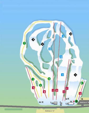 Mount Southington Ski Area Piste / Trail Map