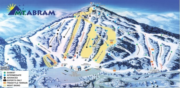 Mt Abram Ski Resort Piste / Trail Map