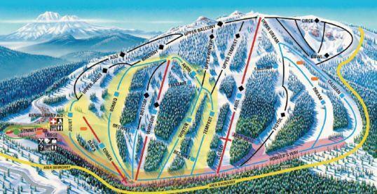 Mt Ashland Piste / Trail Map