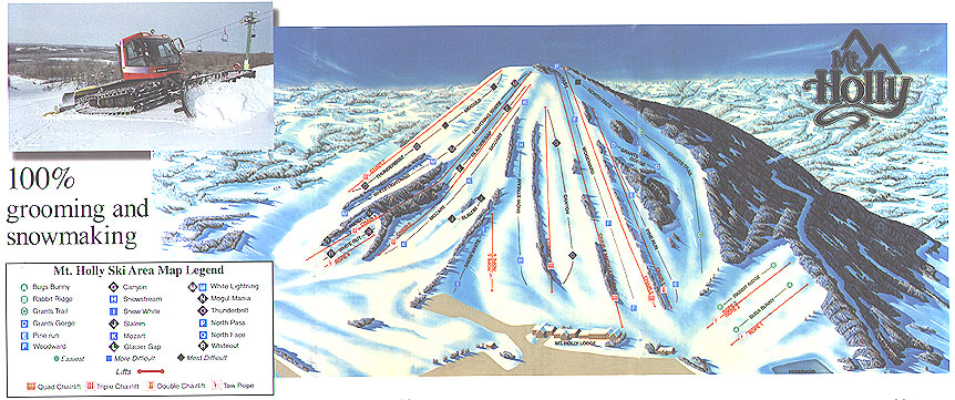Mt Holly Piste / Trail Map