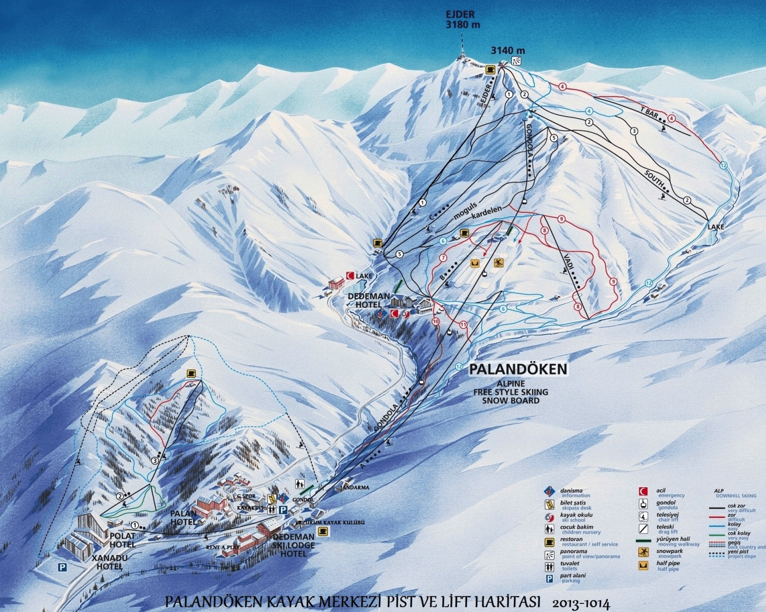Mt Palandken Ski Resort Guide Location Map Mt Palandken ski