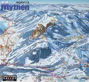 Mythenregion Piste / Trail Map