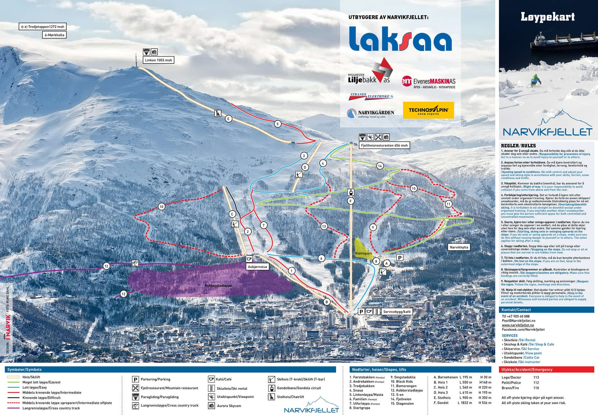 Narvik Piste / Trail Map