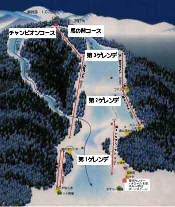 Nashiki Kogen Piste / Trail Map