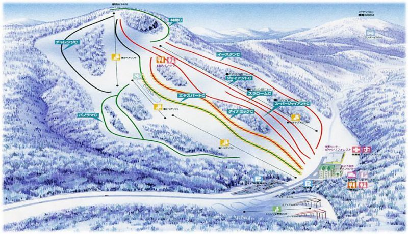 Nayoro Piyashiri Piste / Trail Map