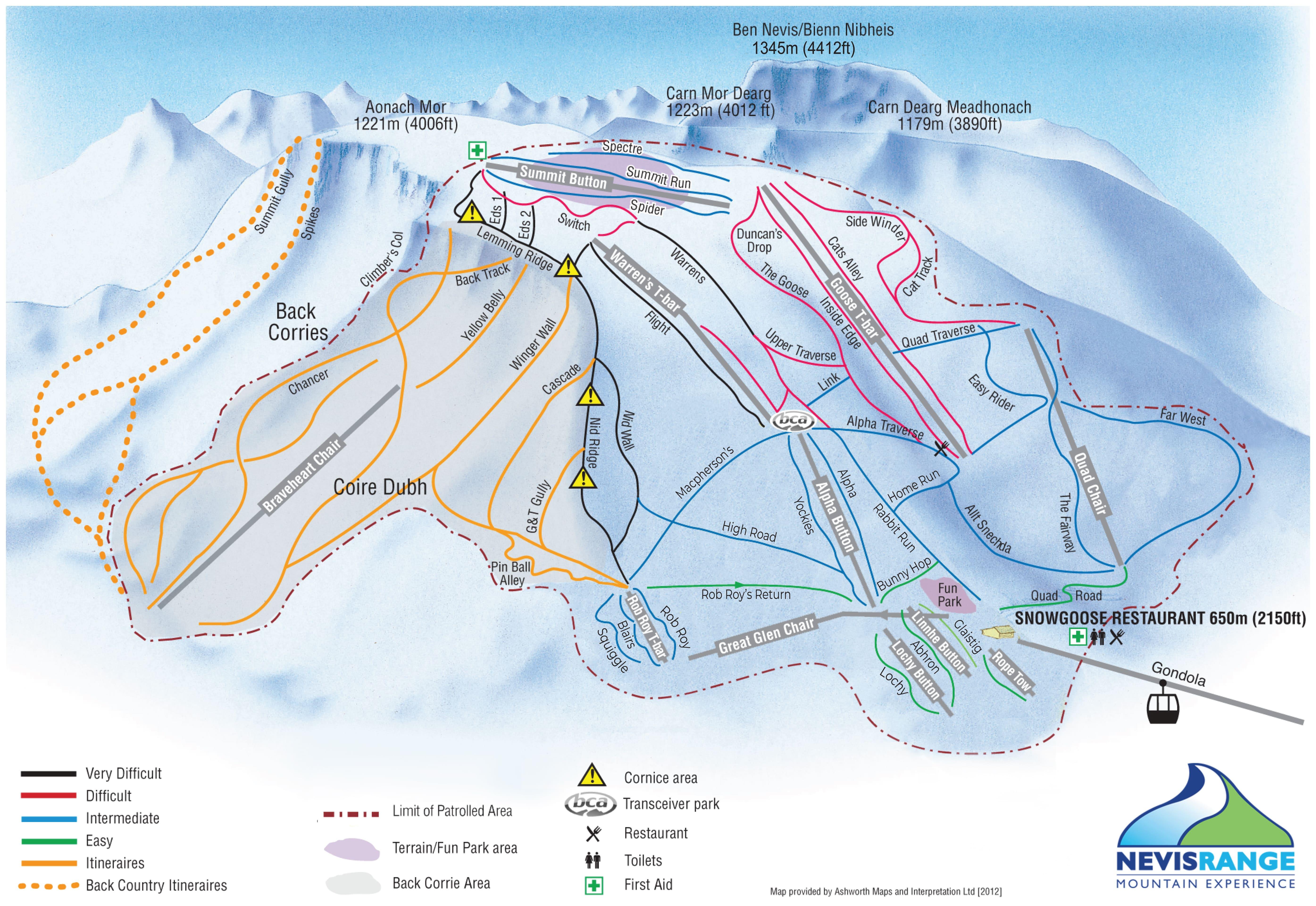 Nevis Range Piste / Trail Map