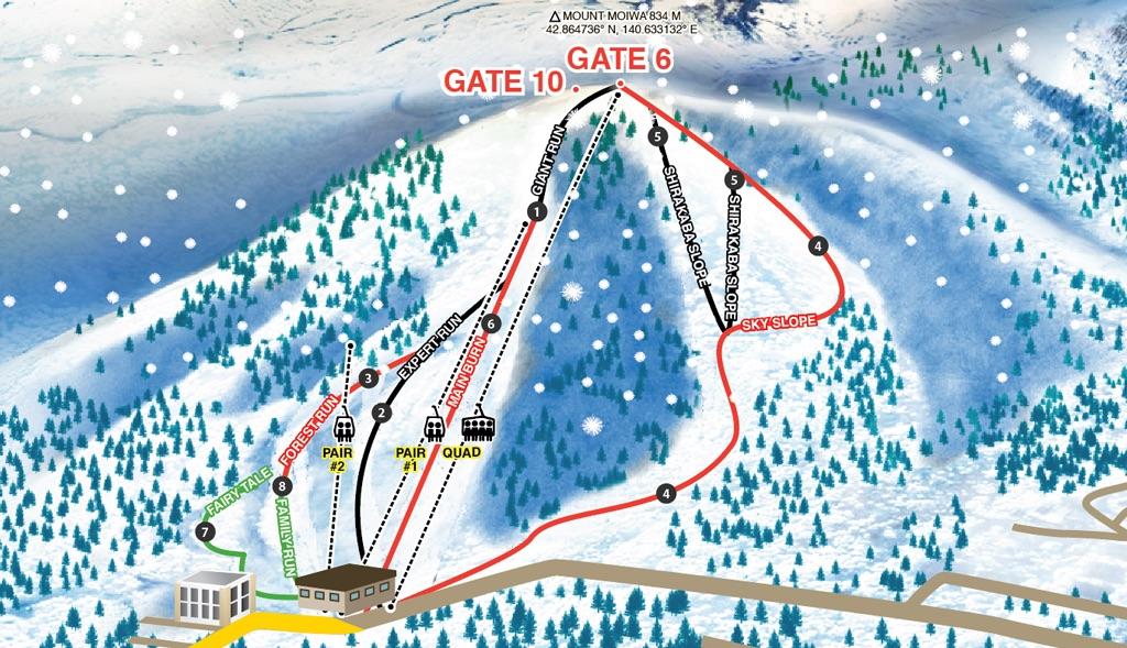 Niseko Moiwa Piste / Trail Map