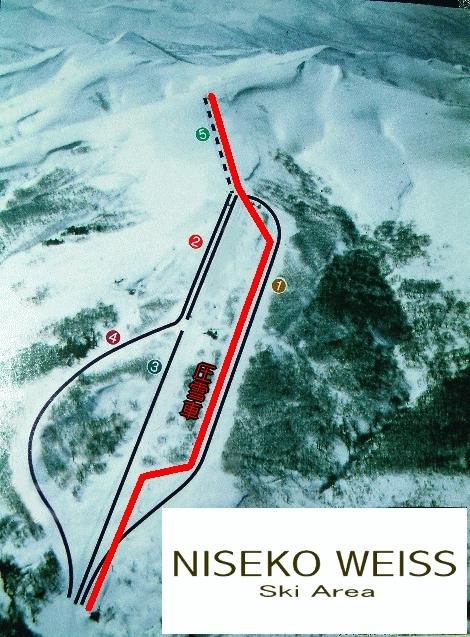 Niseko Weiss Piste / Trail Map