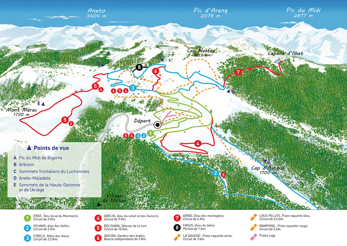Nistos Piste / Trail Map