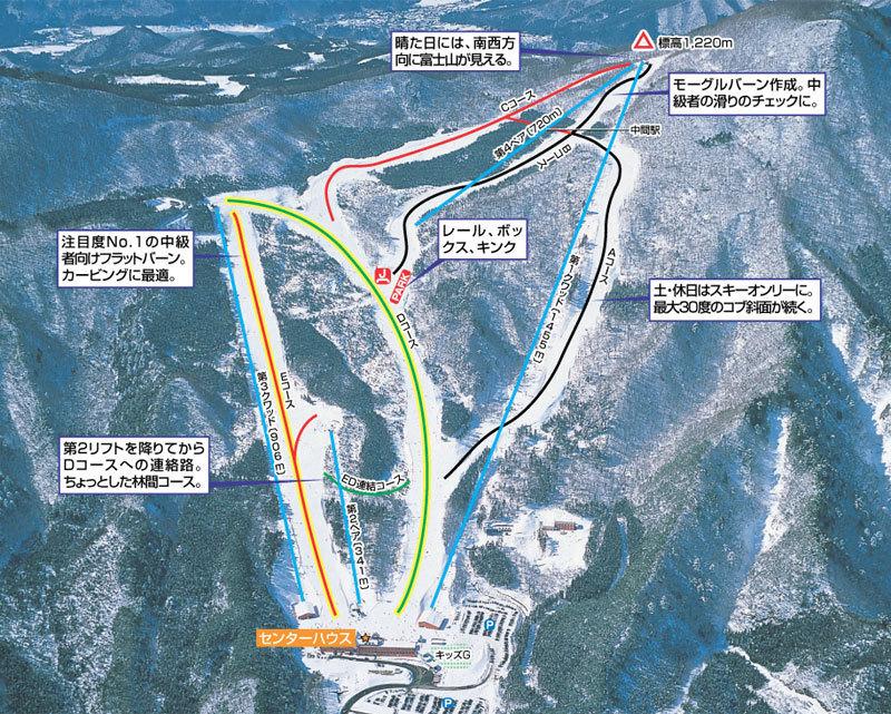 Norn Minakami Piste / Trail Map