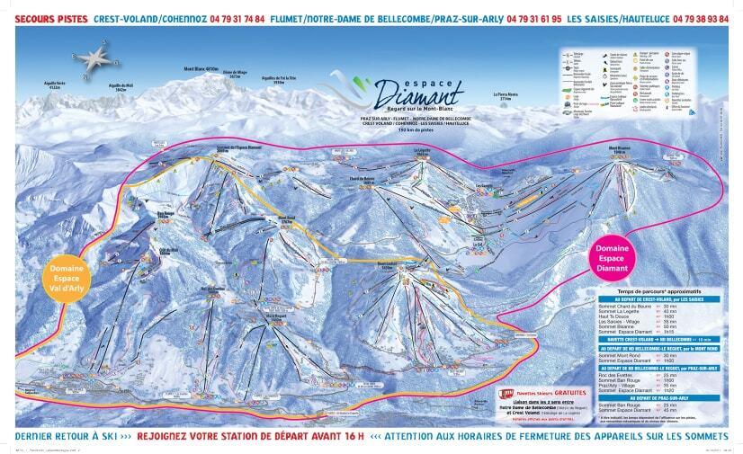 Notre Dame de Bellecombe Piste / Trail Map