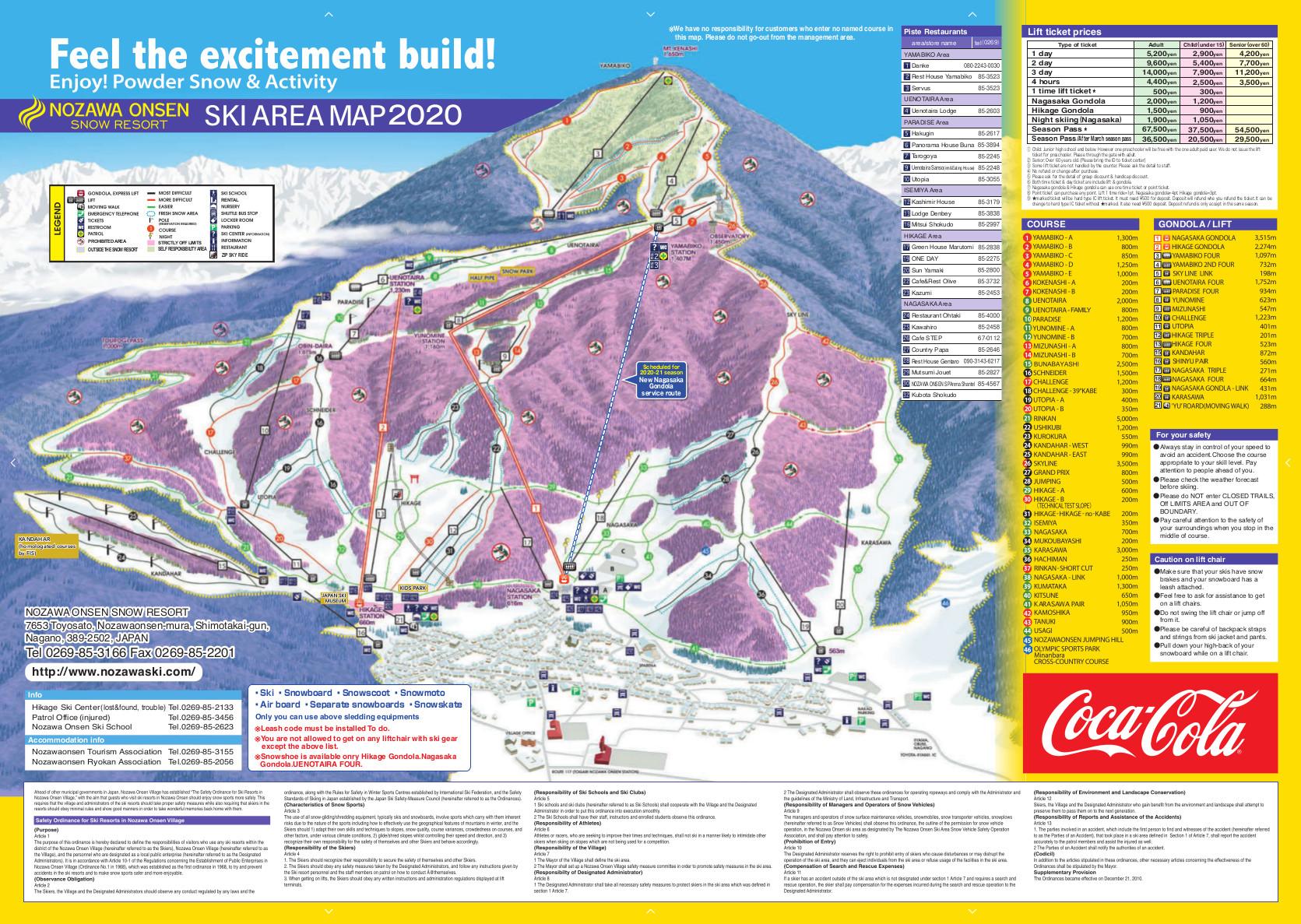 Nozawa Onsen Piste / Trail Map