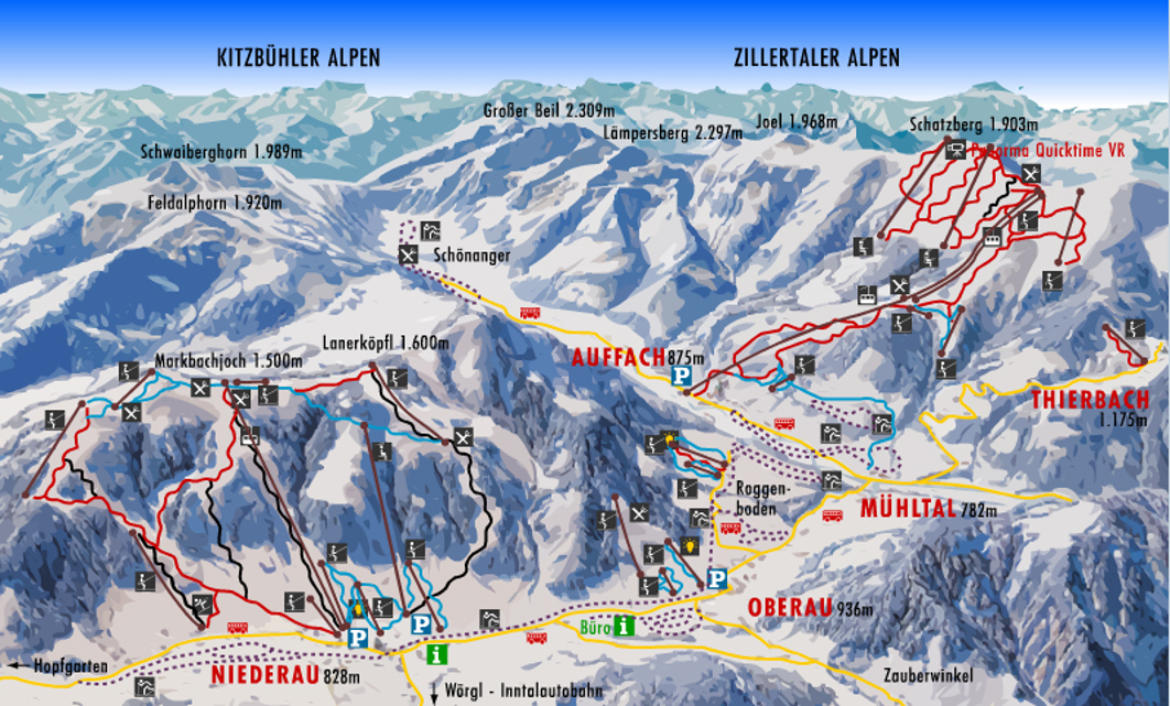 Oberau Piste / Trail Map