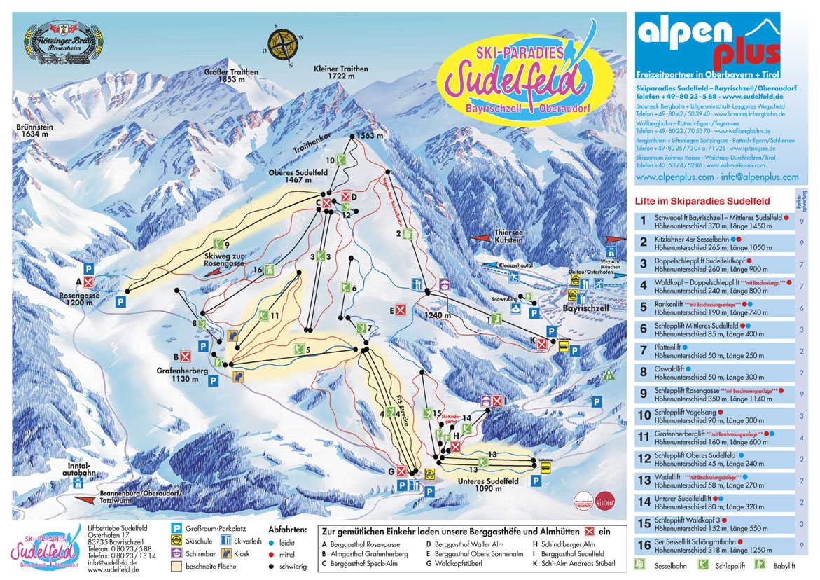 Oberaudorf Piste / Trail Map