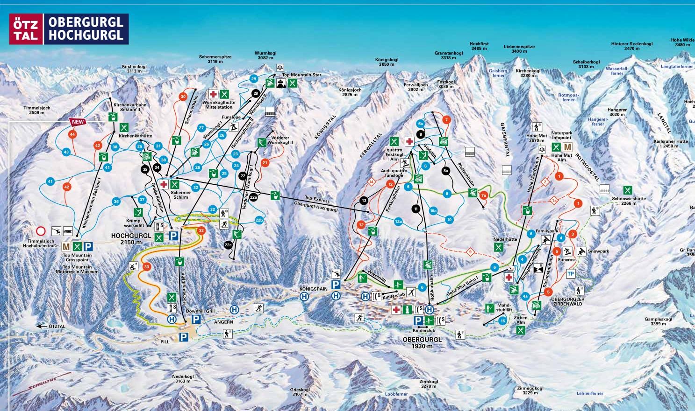 Obergurgl Piste / Trail Map