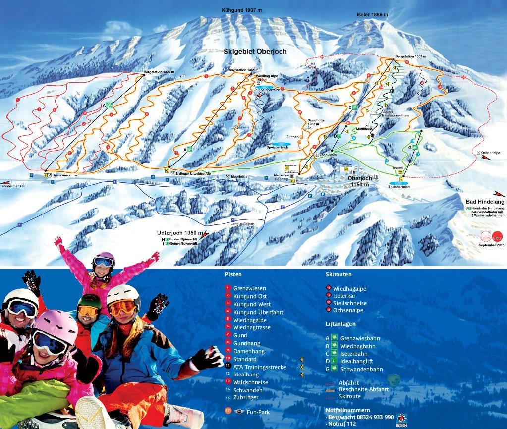 Oberjoch Piste / Trail Map