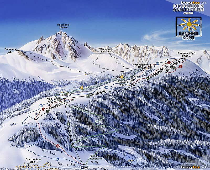 Oberperfuss Piste / Trail Map