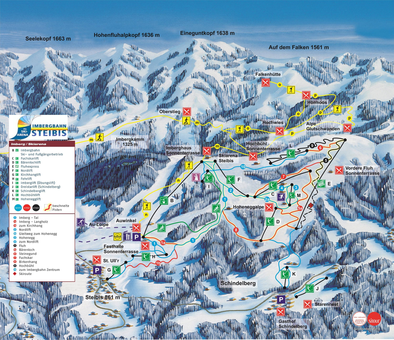 Oberstaufen/Steibis/Imberg Piste / Trail Map