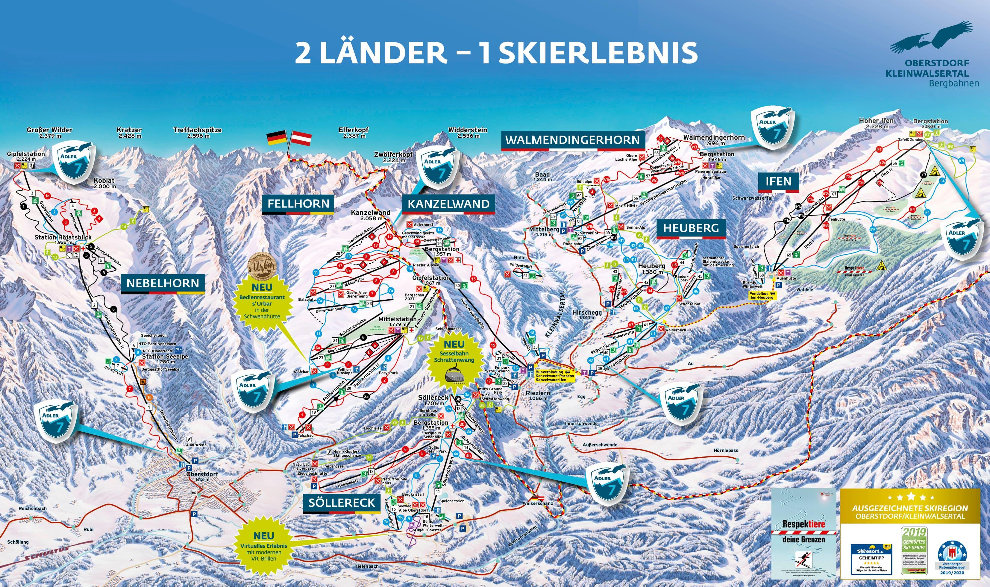 Oberstdorf-Nebelhorn Piste / Trail Map