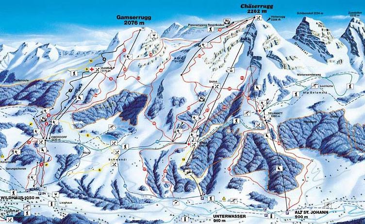 Obertoggenburg - Toggenburg Piste / Trail Map