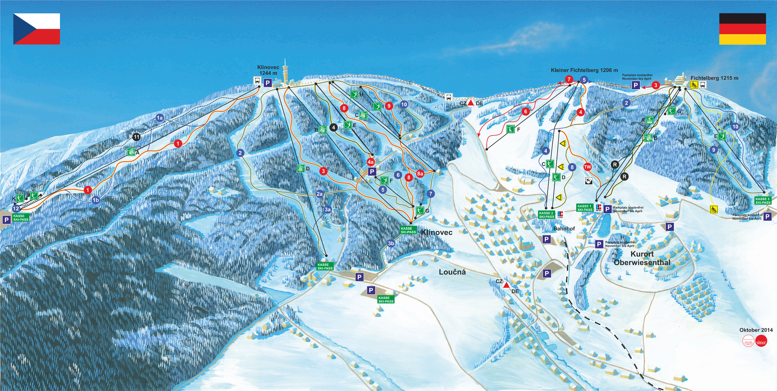 Oberwiesenthal Piste / Trail Map