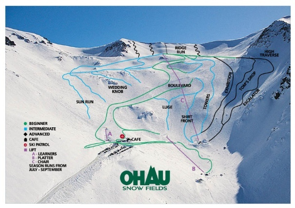 Ohau Piste / Trail Map