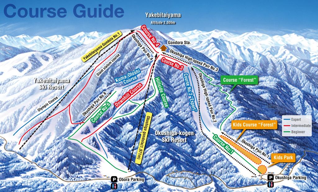 Shiga Kogen-Okushiga Kogen Piste / Trail Map