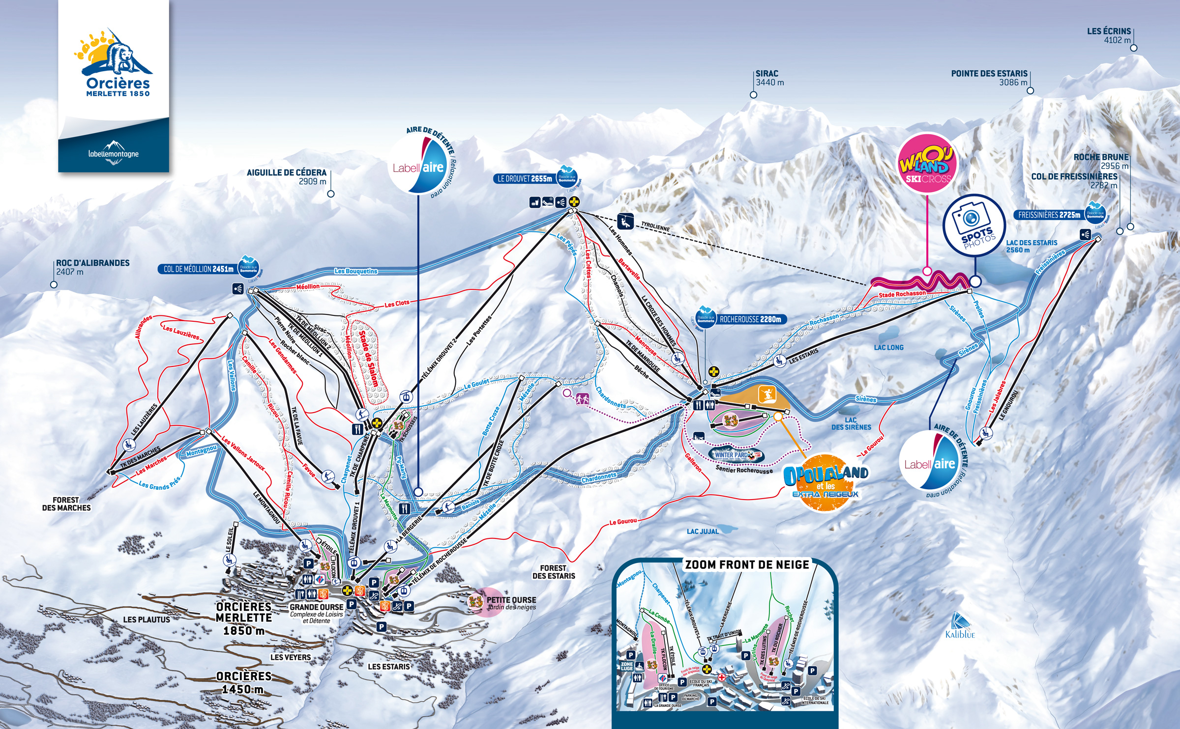 Orcieres Piste / Trail Map