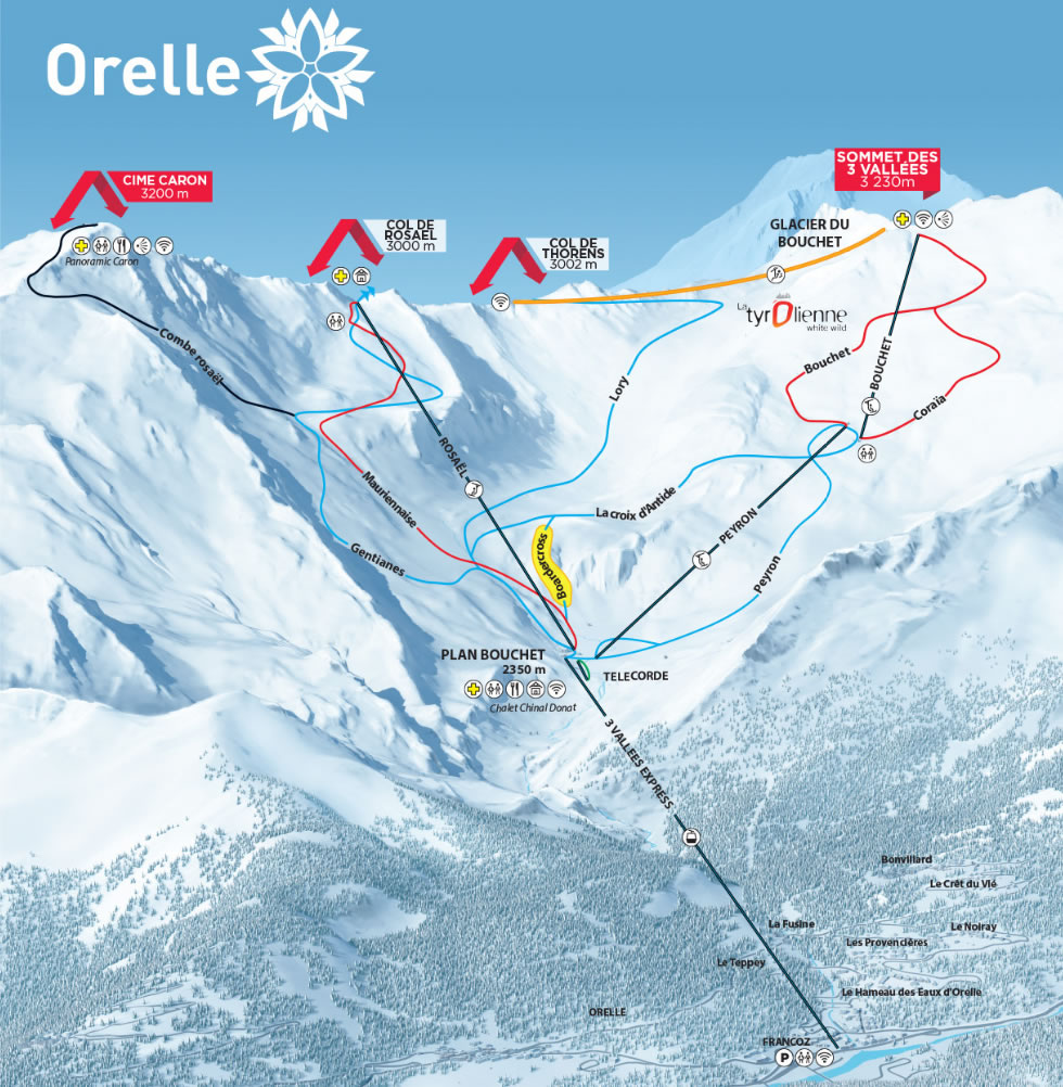 Orelle Piste / Trail Map