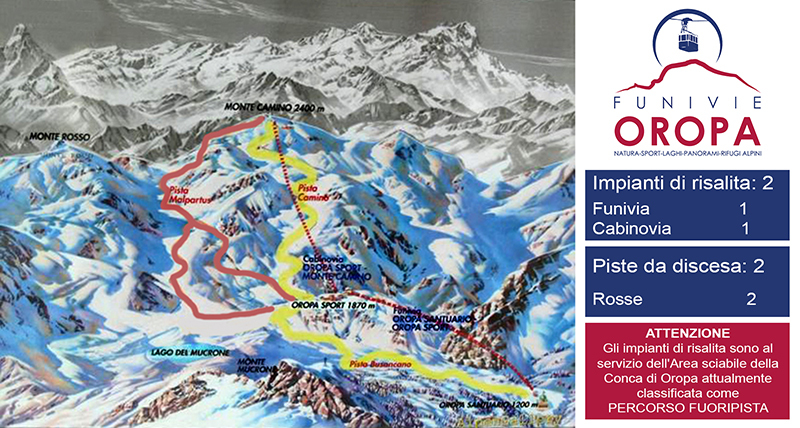 Oropa Piste / Trail Map