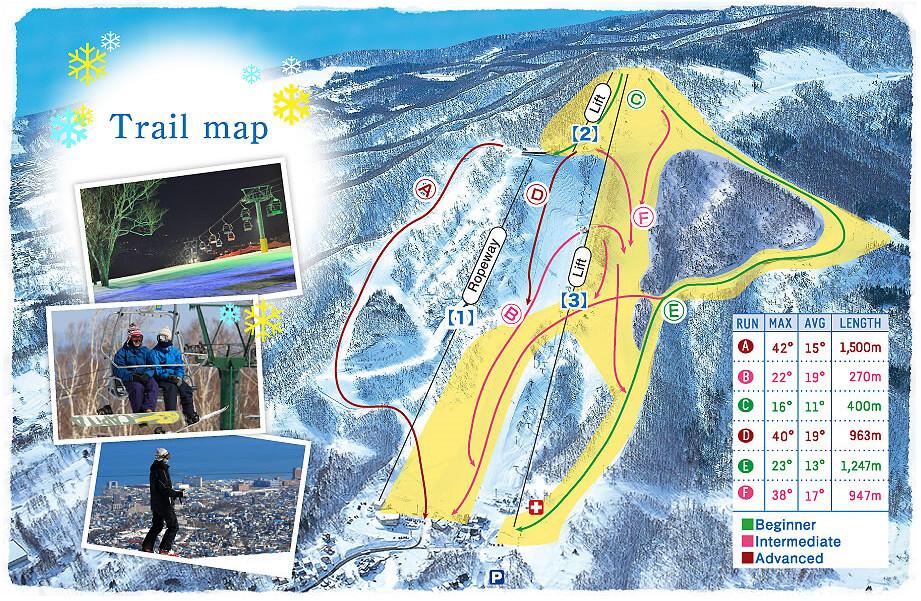 Otaru Tenguyama Piste / Trail Map