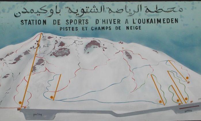 Oukaïmeden Piste / Trail Map