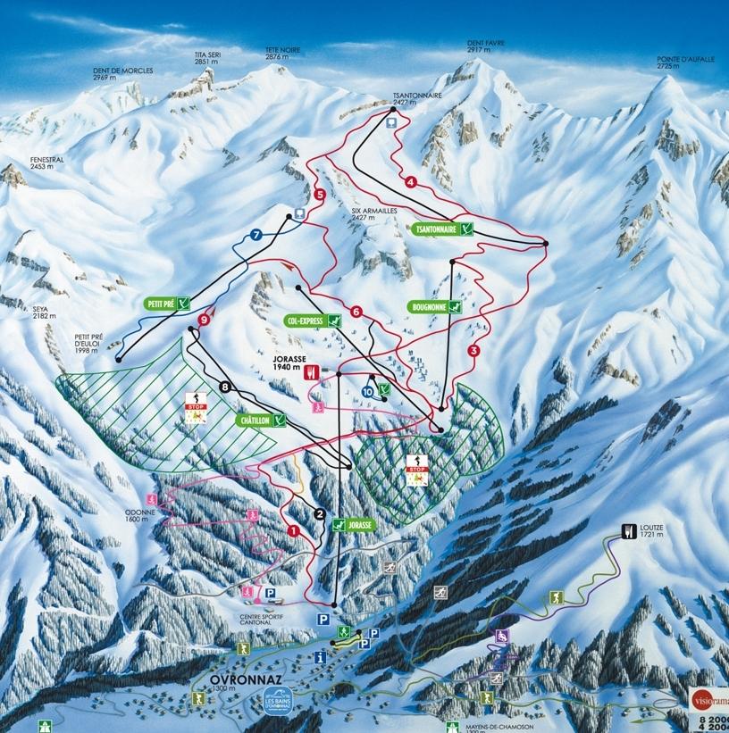 Ovronnaz Piste / Trail Map