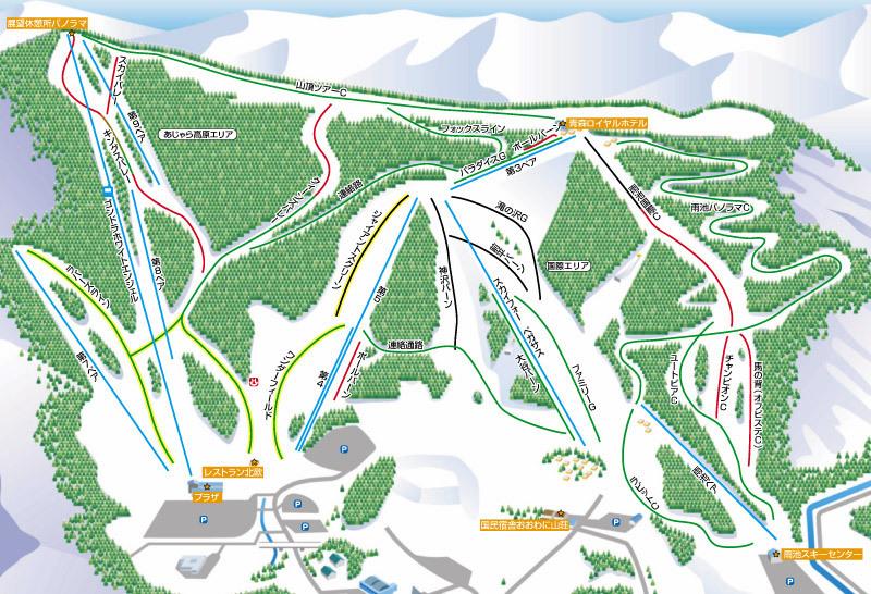 Owani Onsen Piste / Trail Map