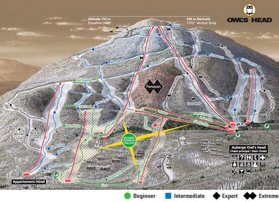 Owls Head Piste / Trail Map