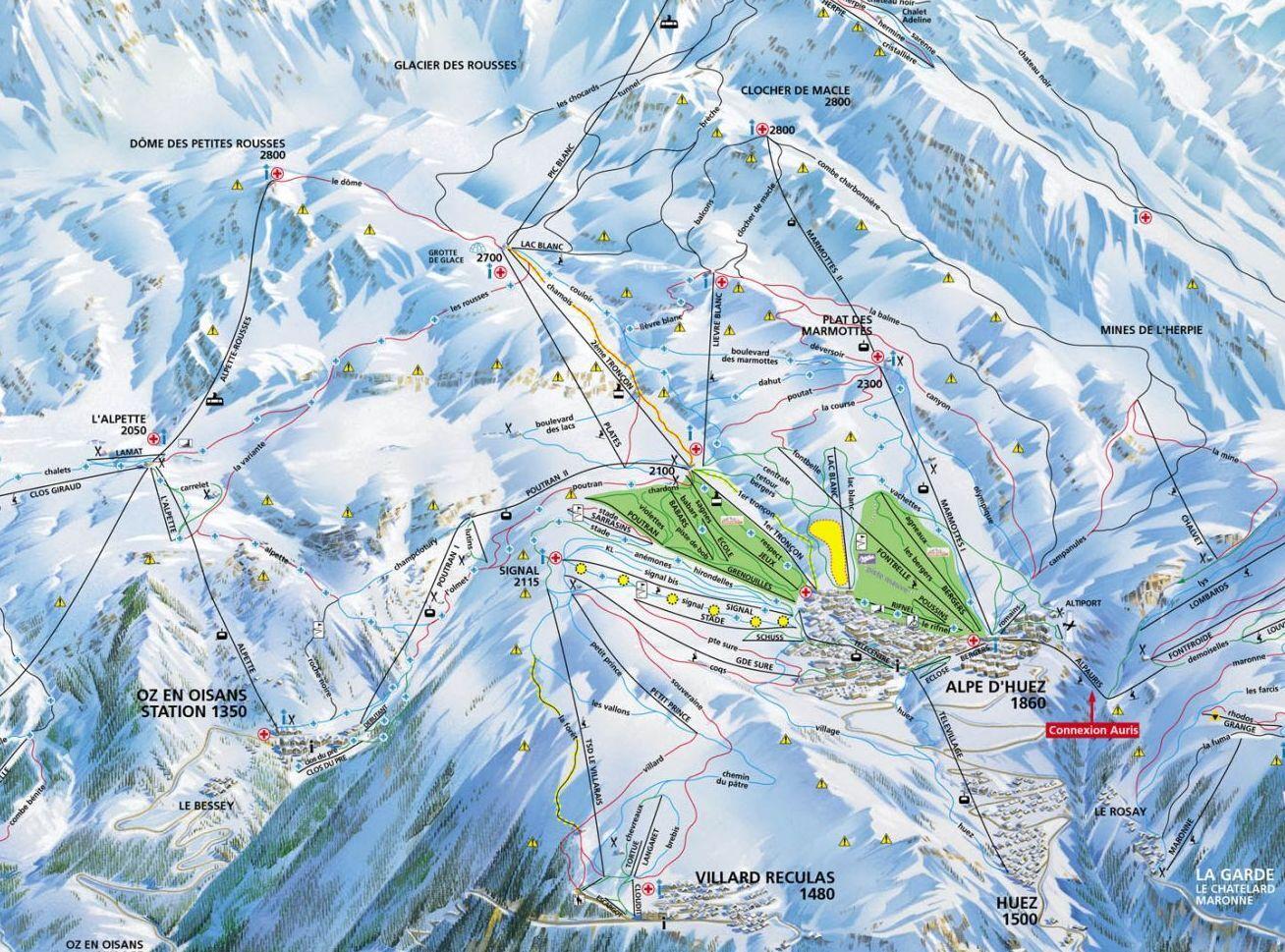 Oz en Oisans Ski Resort Guide, Location Map & Oz en Oisans ski ...