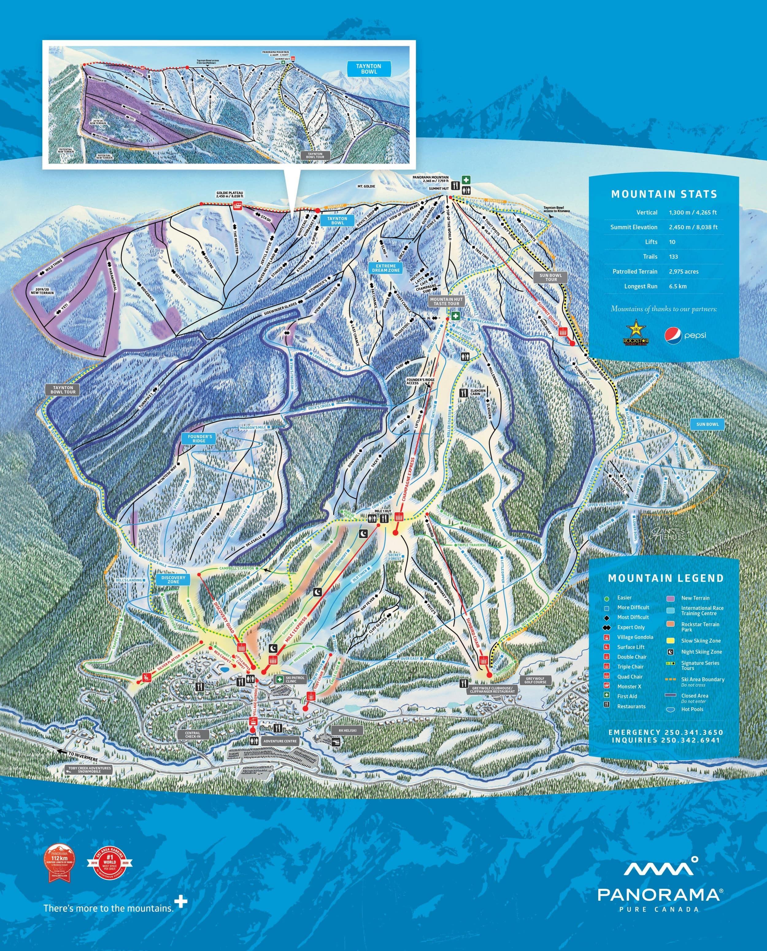 Panorama Mountain Resort Ski Resort Guide Location Map