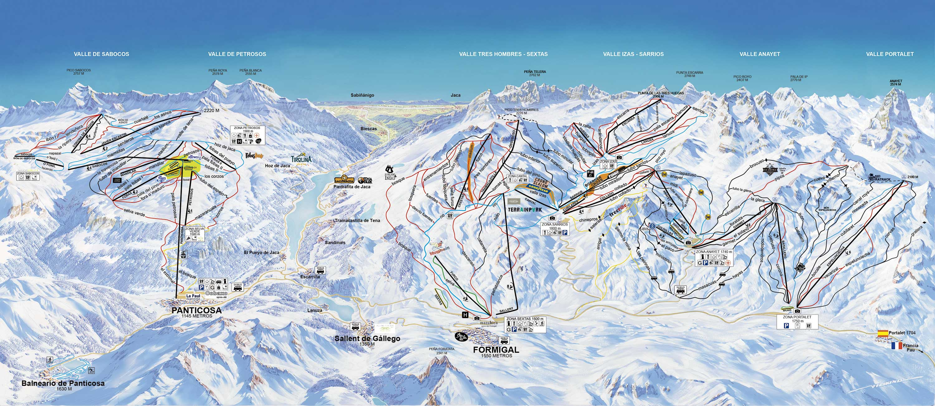 Panticosa Piste / Trail Map