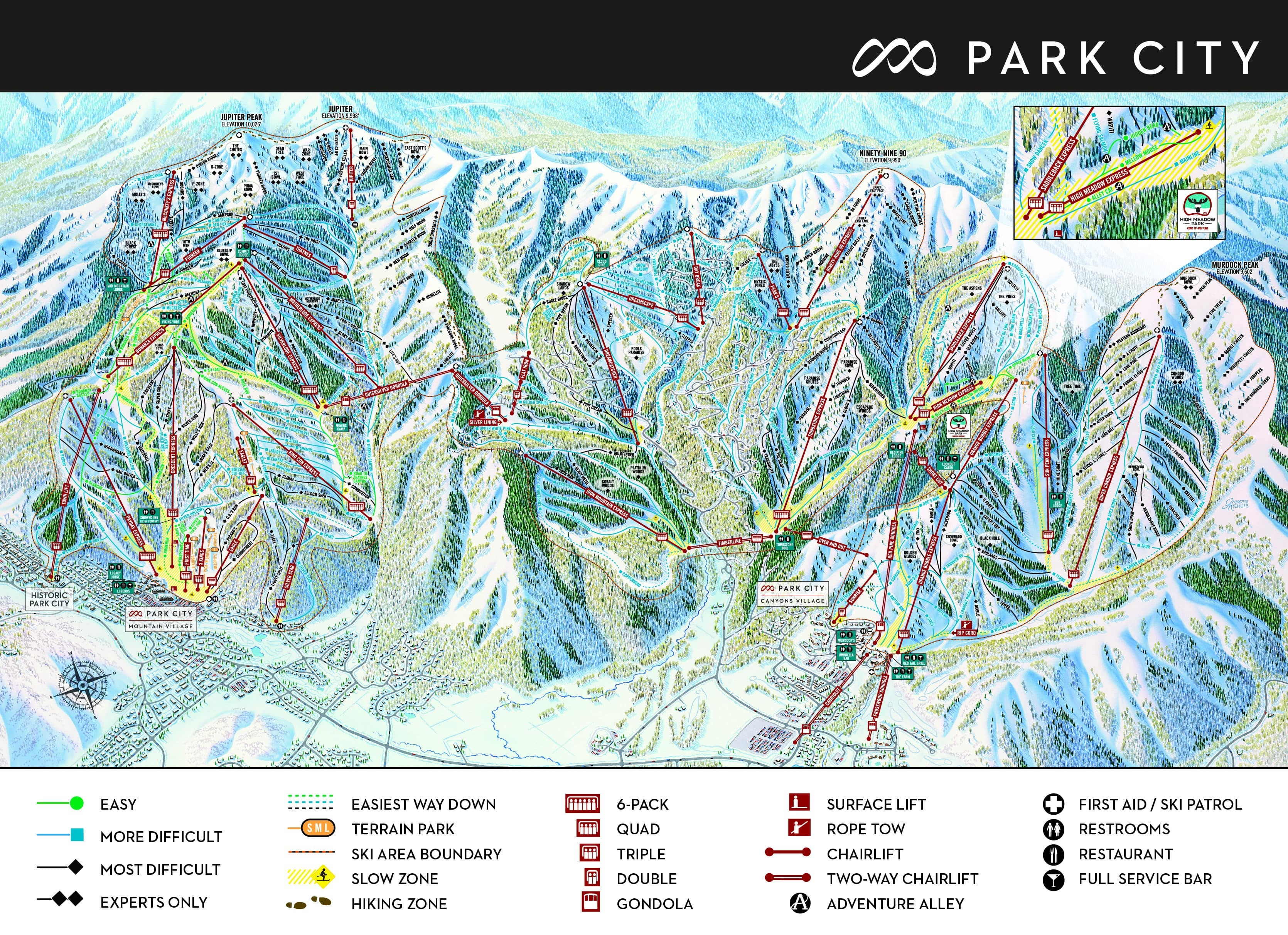 Park City Resort Map Park City Ski Resort Guide, Location Map & Park City ski holiday  Park City Resort Map