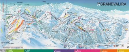 Pas De La Casa Piste Map Grandvalira Pas de la Casa Ski Resort Guide, Location Map  Pas De La Casa Piste Map