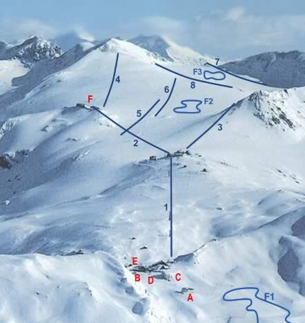 Passo Dello Stelvio Stilfserjoch Piste / Trail Map