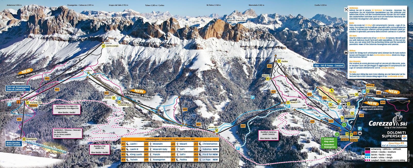 Carezza Piste / Trail Map