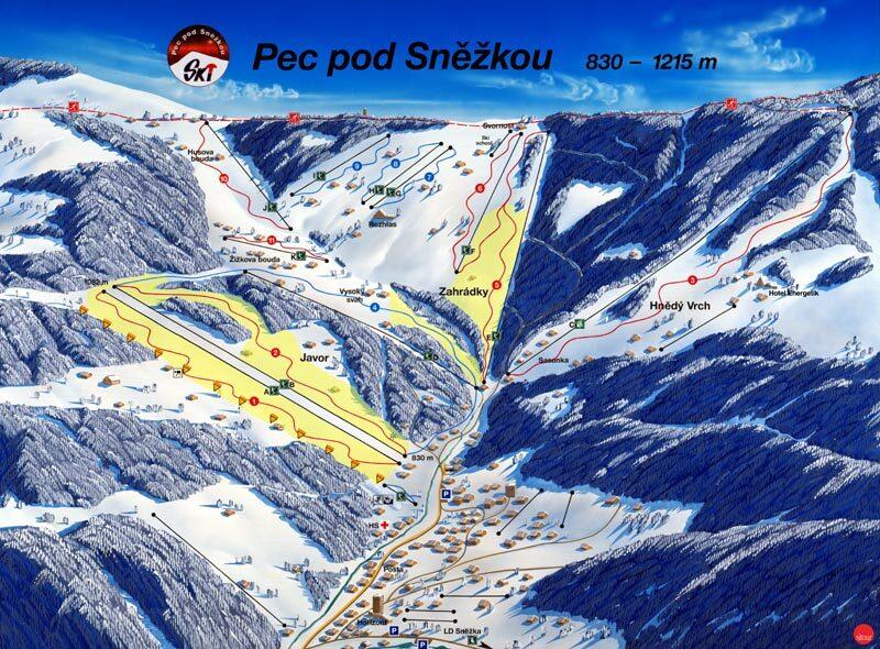 Pec pod Sněžkou Piste / Trail Map