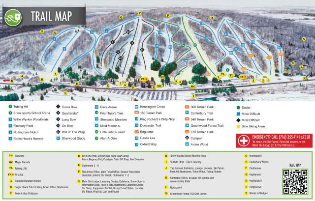 Peek'n Peak Resort Piste / Trail Map
