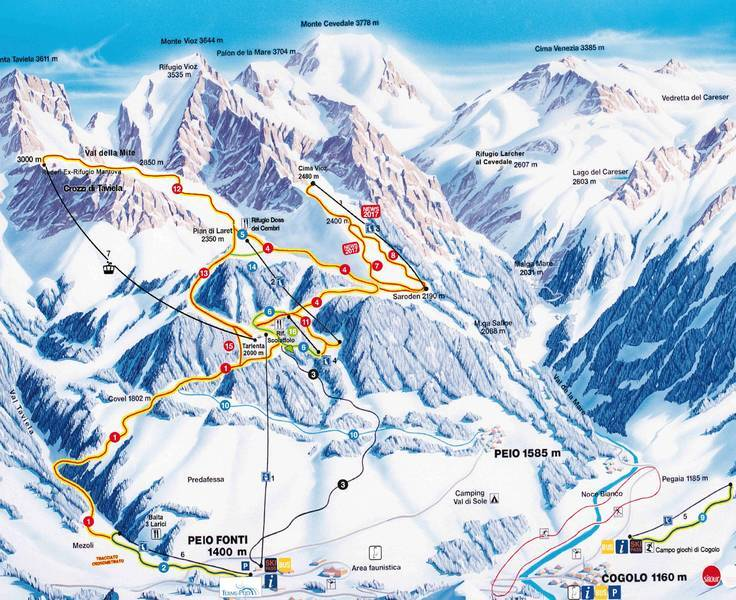 Peio Piste / Trail Map
