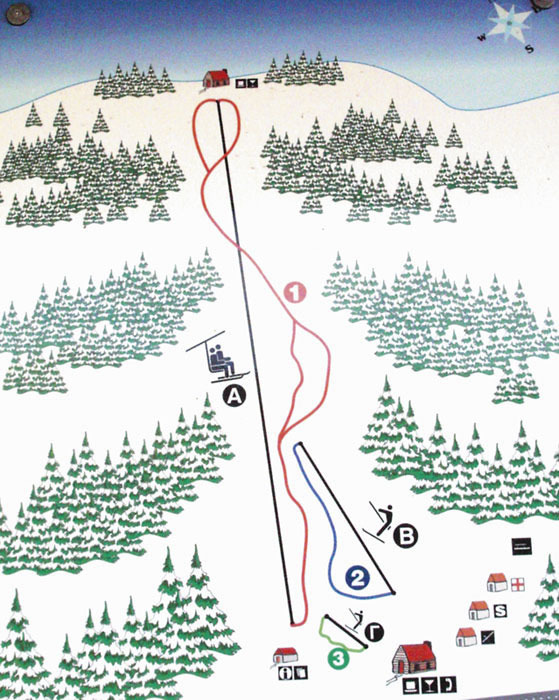 Pertouli Ski Center Piste / Trail Map