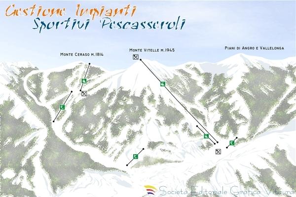Pescasseroli Piste / Trail Map