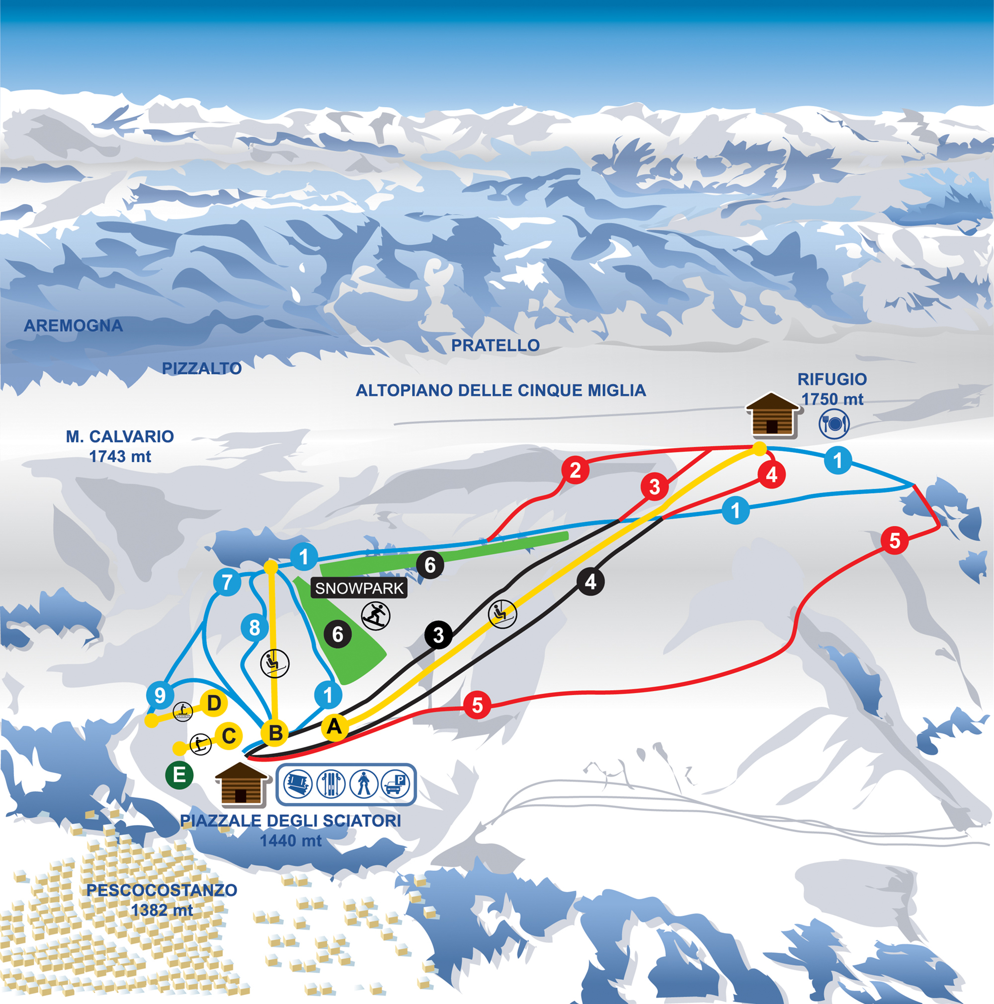 Pescocostanzo Piste / Trail Map